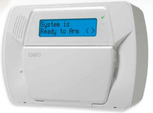 Modern digital alarm control panel