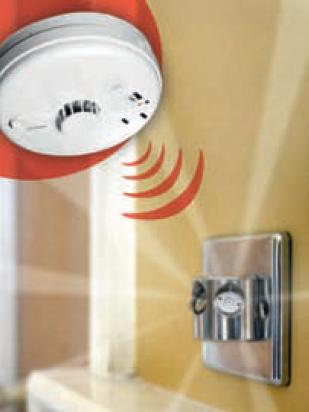 Smoke alarm transmitting